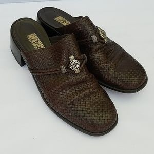 Brighton Woven Leather Mules Shoes